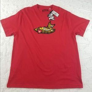 Akoo Red Bomber T-shirt NWT